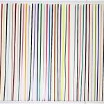 "Scott Ingram, Black, 49"" x 73,"" framed polish on paper; Credit: Emily Amy Gallery"