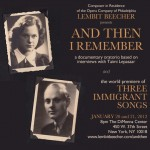 Lembit Beecher Presents Documentary Oratorio <i>And Then I Remember</i> in NYC