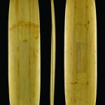 Hydrodynamic planning hull surfboard. Balsa wood, resin, fiberglass. Bob Simmons 1950. Collection of John Elwell. Photography by Ryan Field.