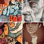 Some of the works by Tocayo and Exist1981 to be featured in Subtext Gallery's 'Dynamic Duo.' Credit: Subtext Gallery