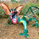 Odd Dragon Sculpture by Dave Thompson