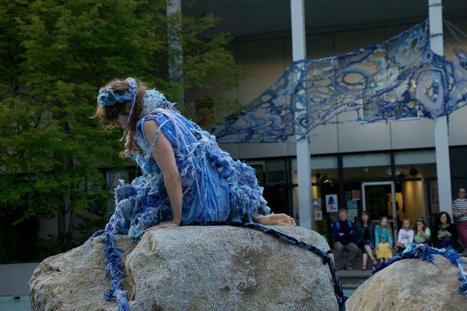 Blue Santa San Antonio >> Mandy Greer and Environmental Art at Seattle Center