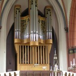 You can often hear the organ.