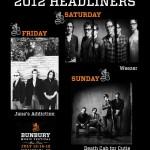 Bunbury Festival Headliners